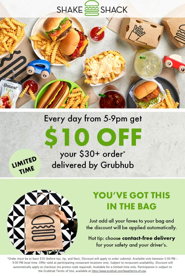 Shake Shack coupons & promo code for [January 2021]