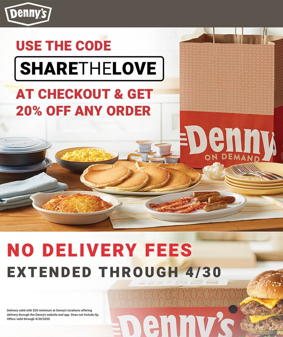 Dennys coupons & promo code for [April 2021]