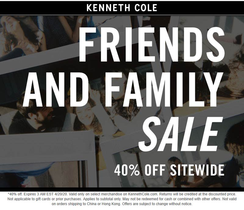 Kenneth Cole coupons & promo code for [October 2020]