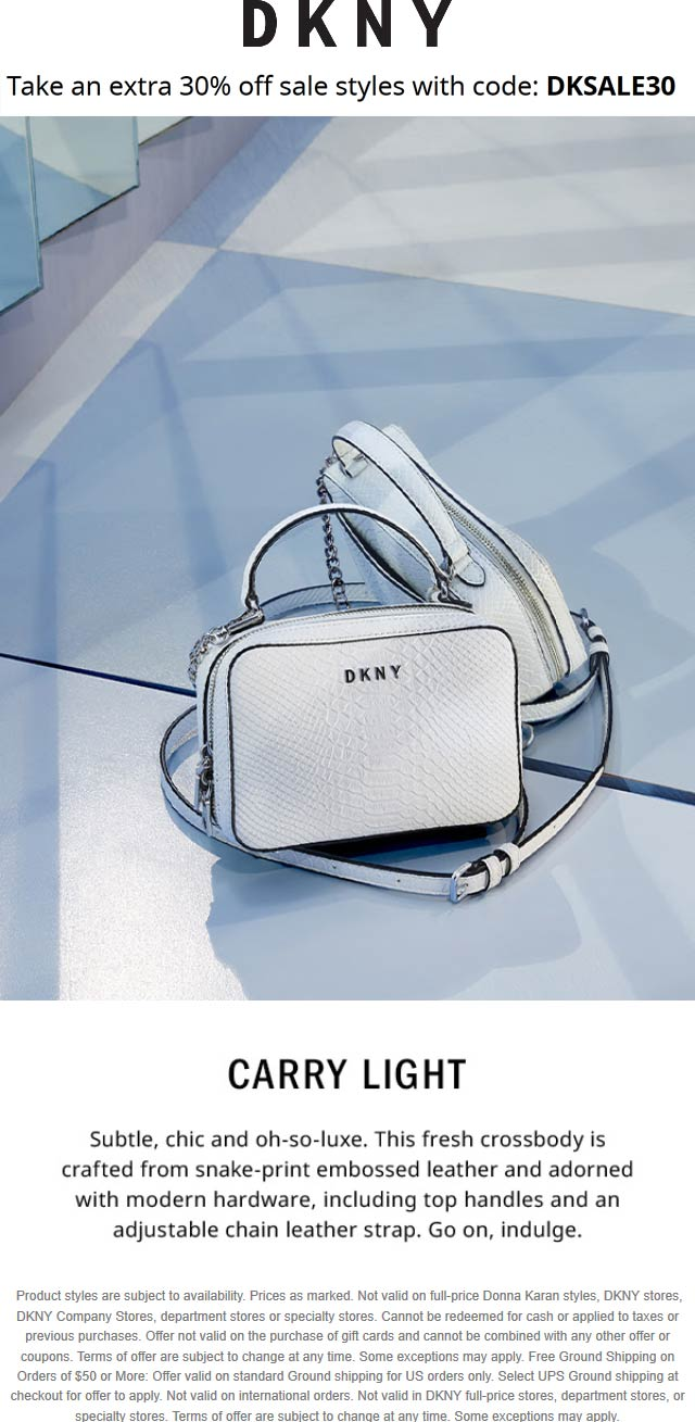 DKNY coupons & promo code for [October 2020]