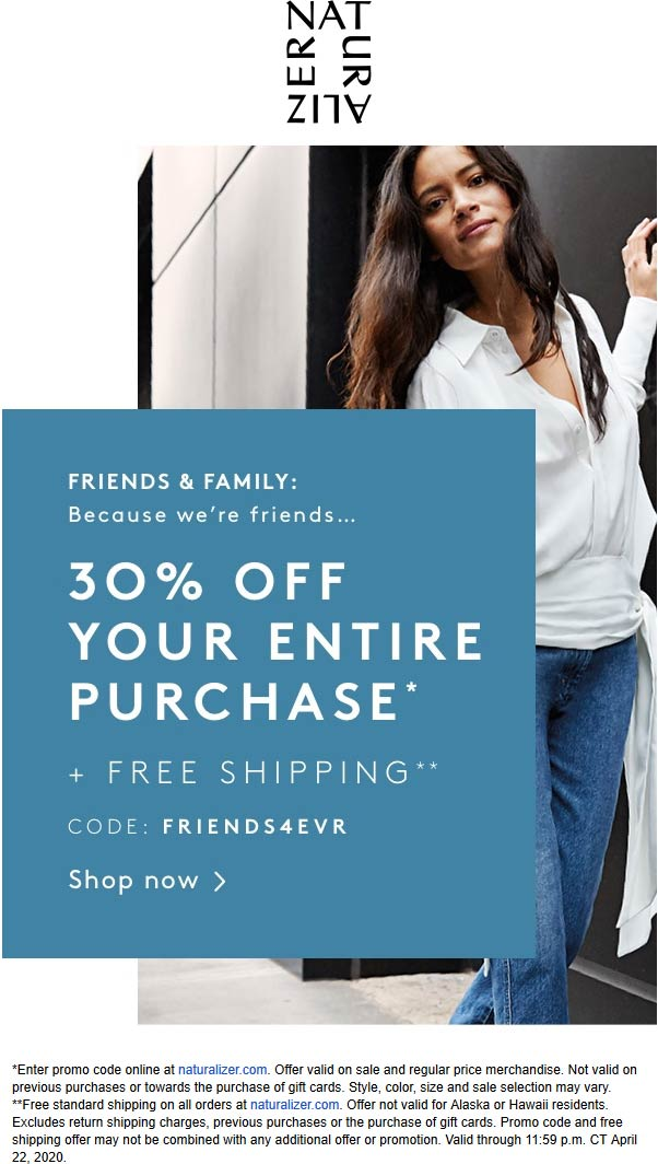 Naturalizer coupons & promo code for [June 2020]