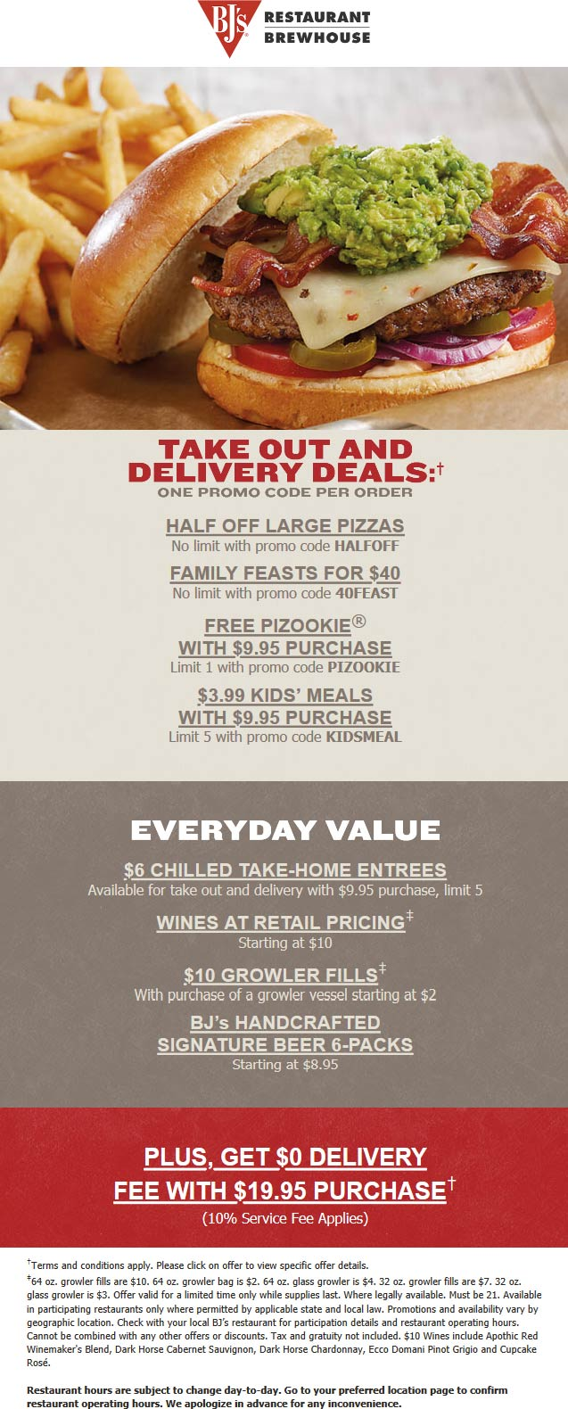 BJs Restaurant coupons & promo code for [January 2021]