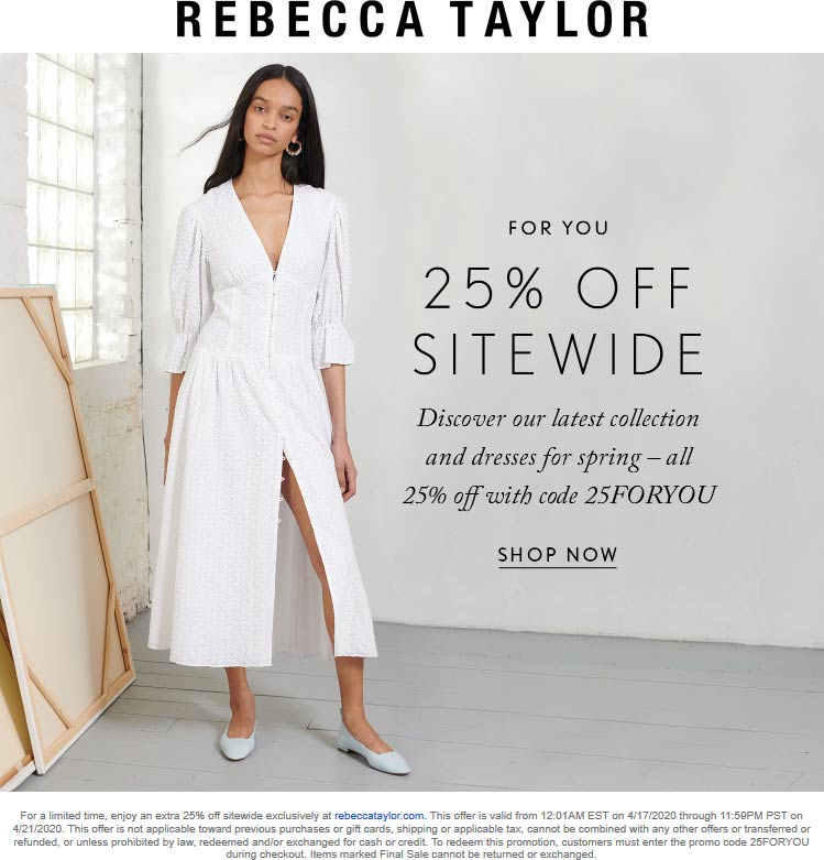 Rebecca Taylor coupons & promo code for [January 2021]