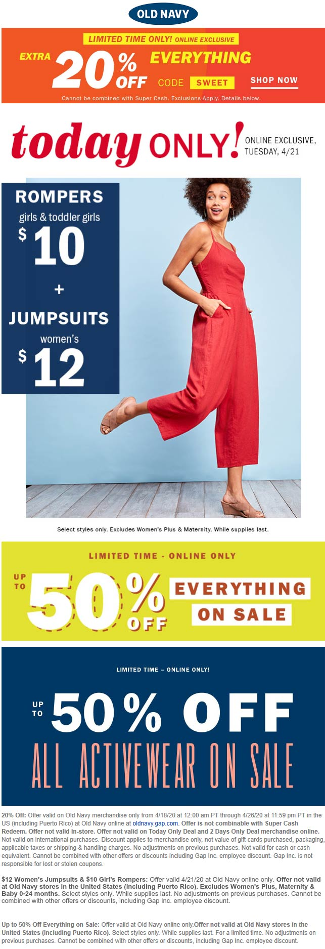 Old Navy coupons & promo code for [January 2021]