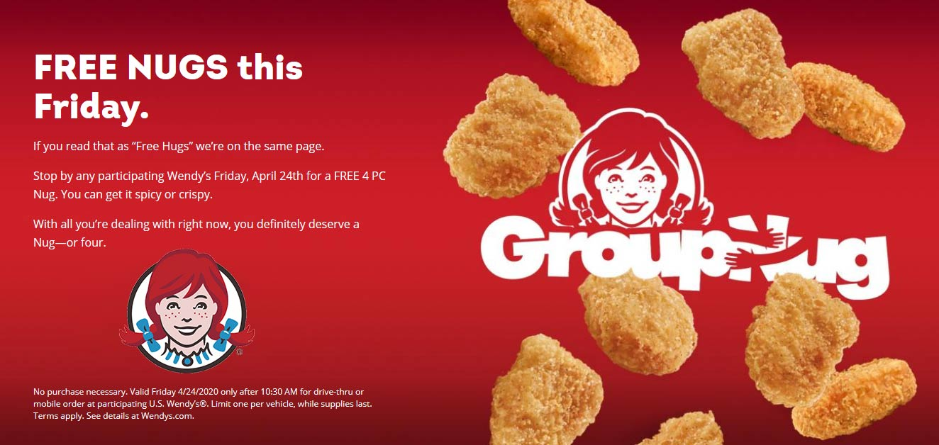 Wendys coupons & promo code for [April 2021]