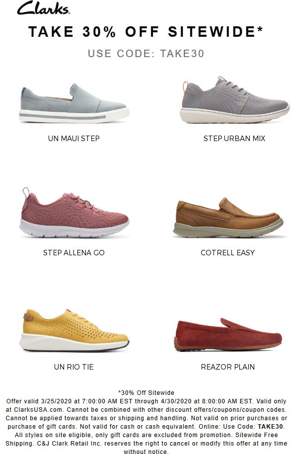 Clarks coupons & promo code for [April 2021]