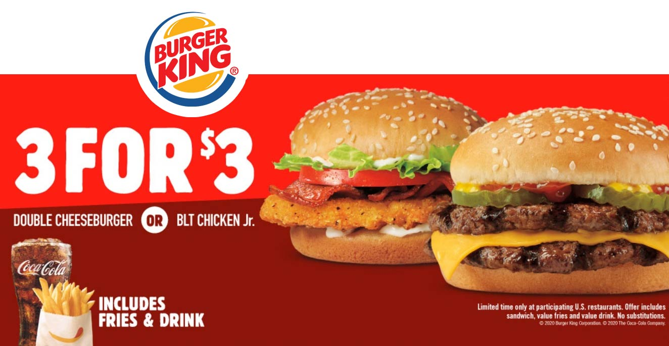 Burger King November 2020 Coupons And Promo Codes