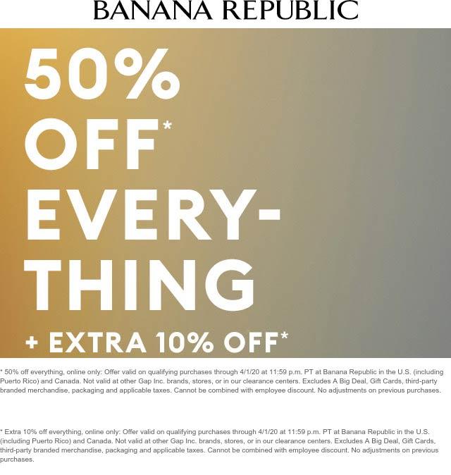 Banana Republic coupons & promo code for [September 2020]