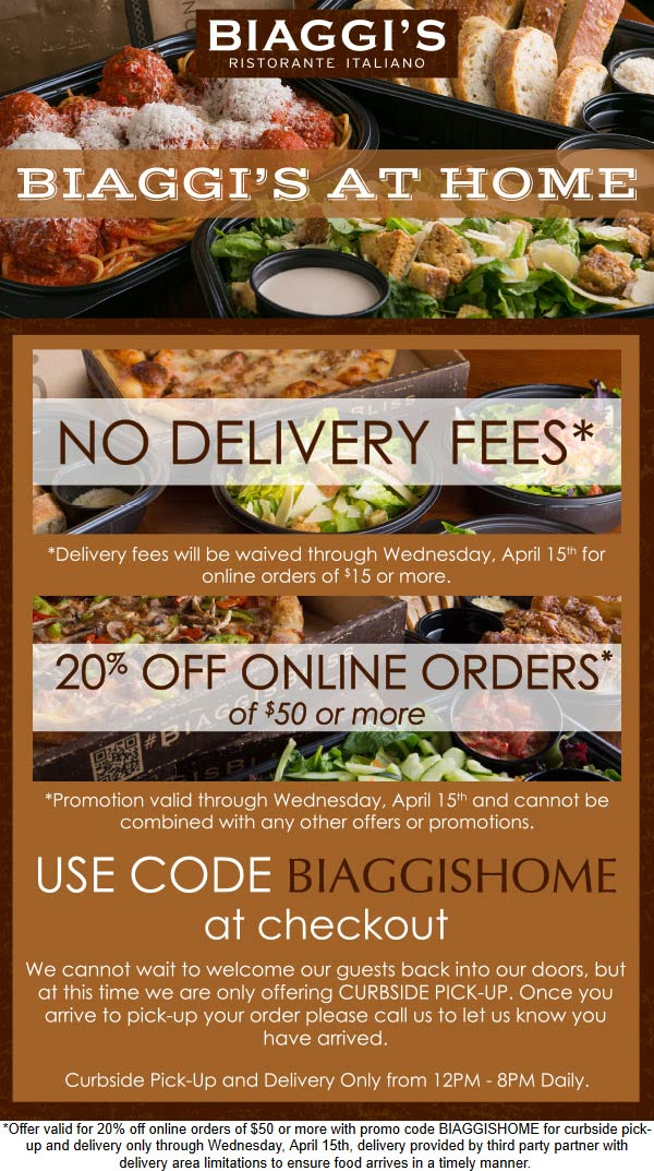 Biaggis coupons & promo code for [August 2020]