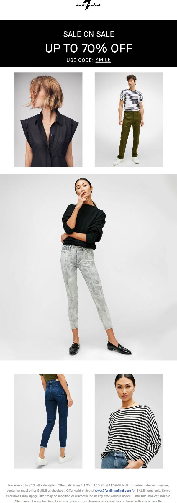 7 for all Mankind coupons & promo code for [October 2020]