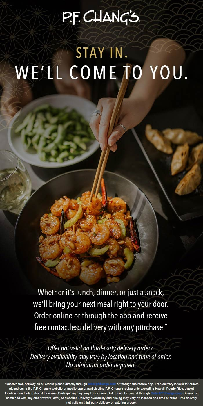 P.F. Changs coupons & promo code for [January 2021]