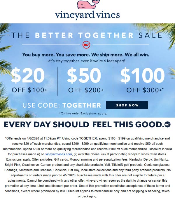 Vineyard Vines coupons & promo code for [June 2020]