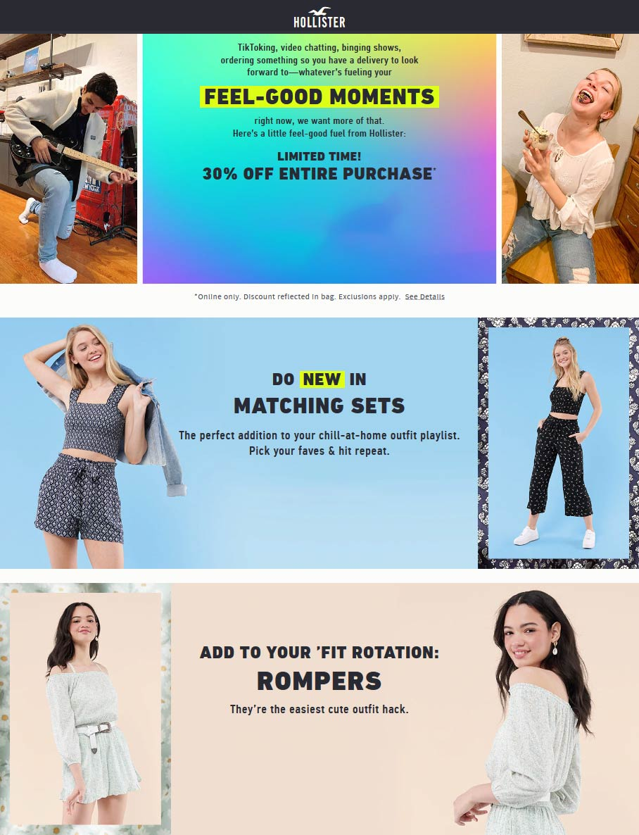 Hollister coupons & promo code for [April 2021]