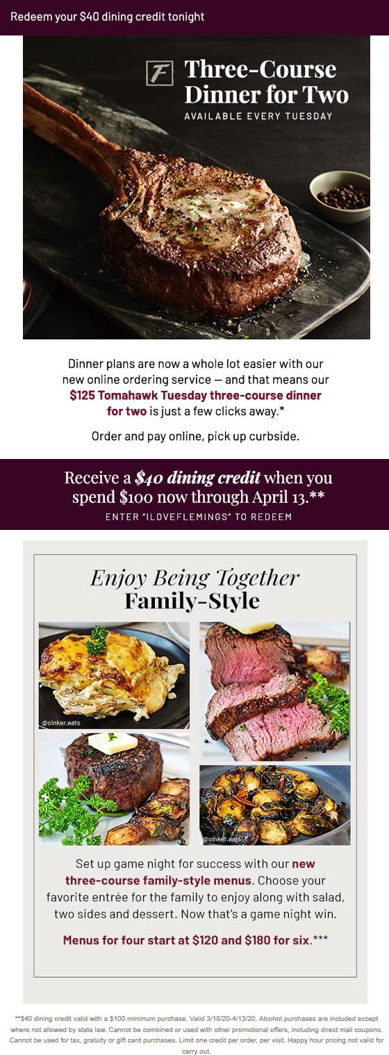 Flemings coupons & promo code for [January 2021]