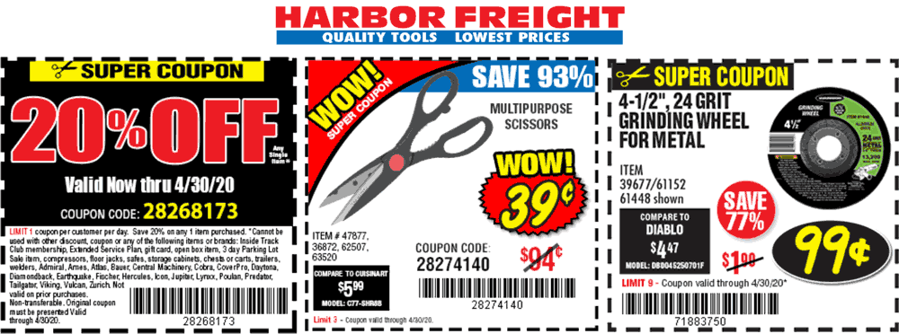 Harbor Freight coupons & promo code for [October 2020]