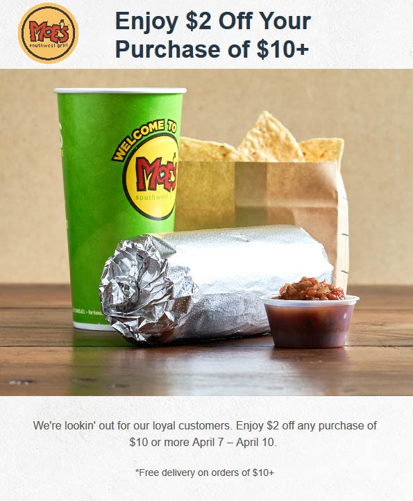 Moes Southwest Grill coupons & promo code for [February 2021]