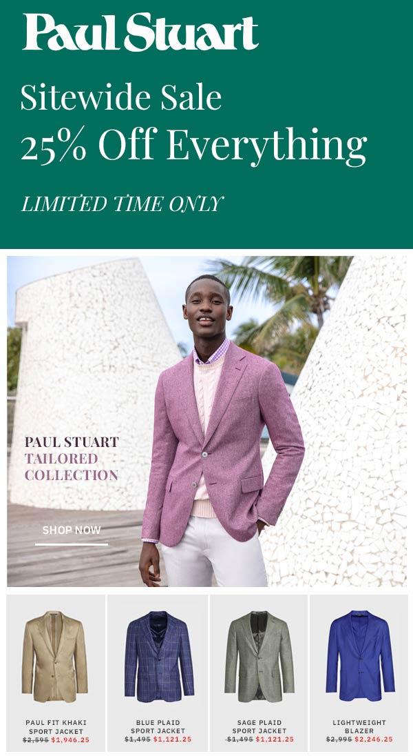Paul Stuart coupons & promo code for [January 2021]