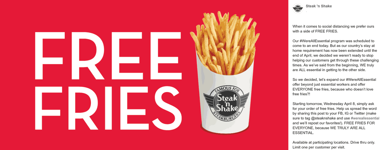 Steak n Shake coupons & promo code for [August 2020]