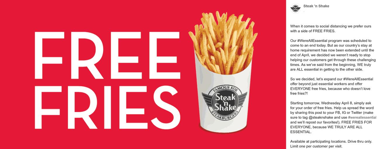 Steak n Shake coupons & promo code for [June 2020]