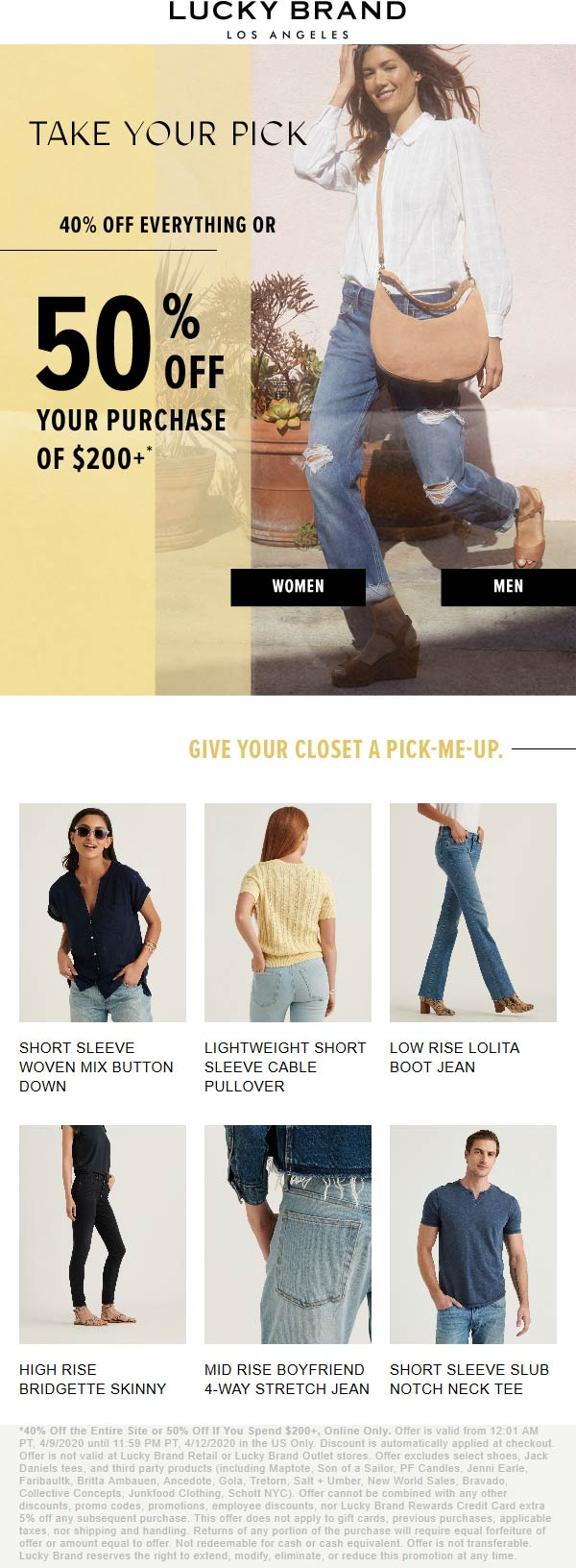 Lucky Brand coupons & promo code for [January 2021]