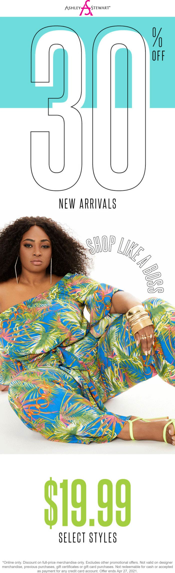 Ashley Stewart stores Coupon  30% off new arrivals today online at Ashley Stewart #ashleystewart