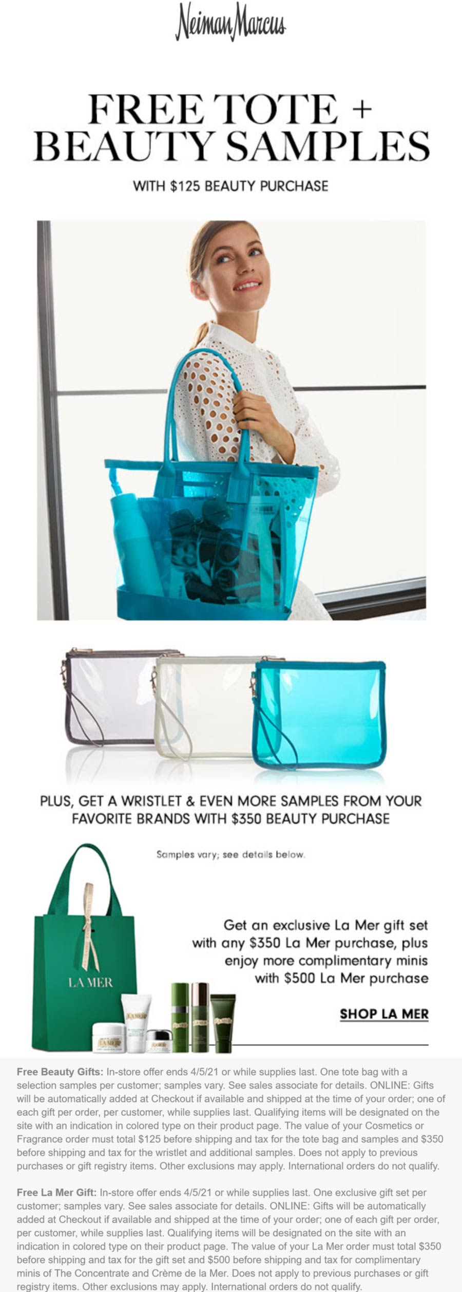 Neiman Marcus stores Coupon  Free tote & various beauty shwag with $125 spent at Neiman Marcus #neimanmarcus