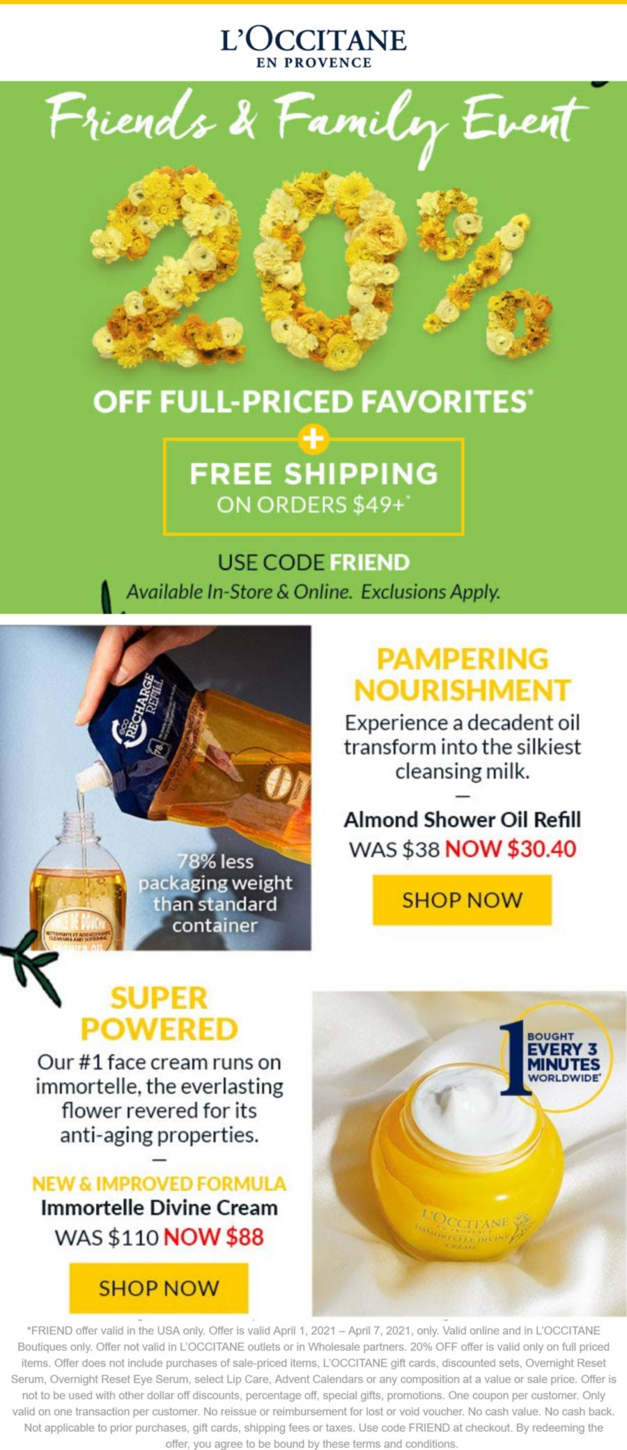LOccitane coupons & promo code for [April 2021]