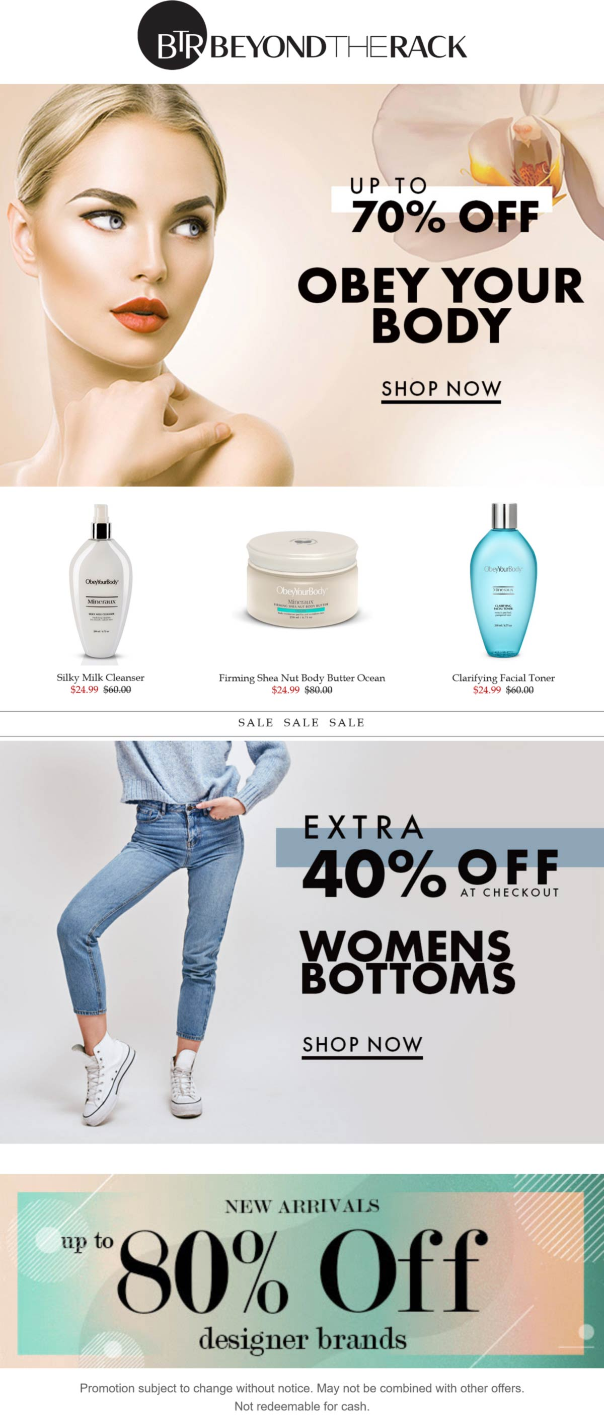 Beyond the Rack stores Coupon  Extra 40% off womens bottoms at Beyond the Rack #beyondtherack