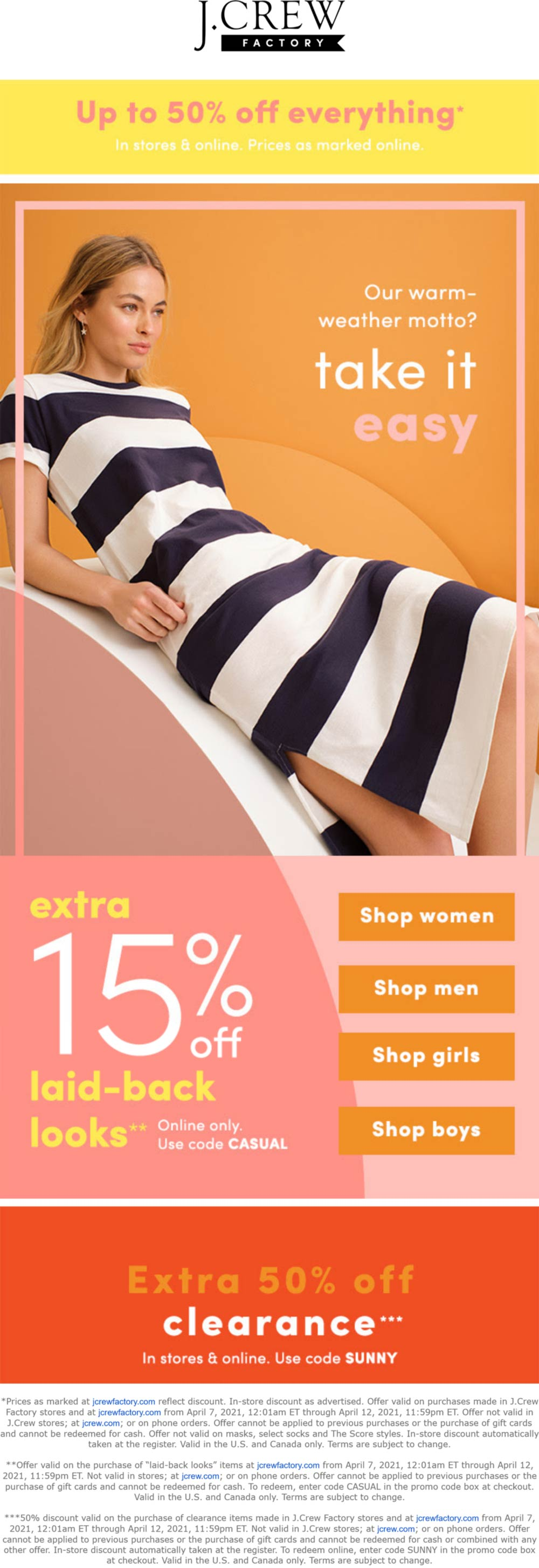 J.Crew Factory coupons & promo code for [May 2021]