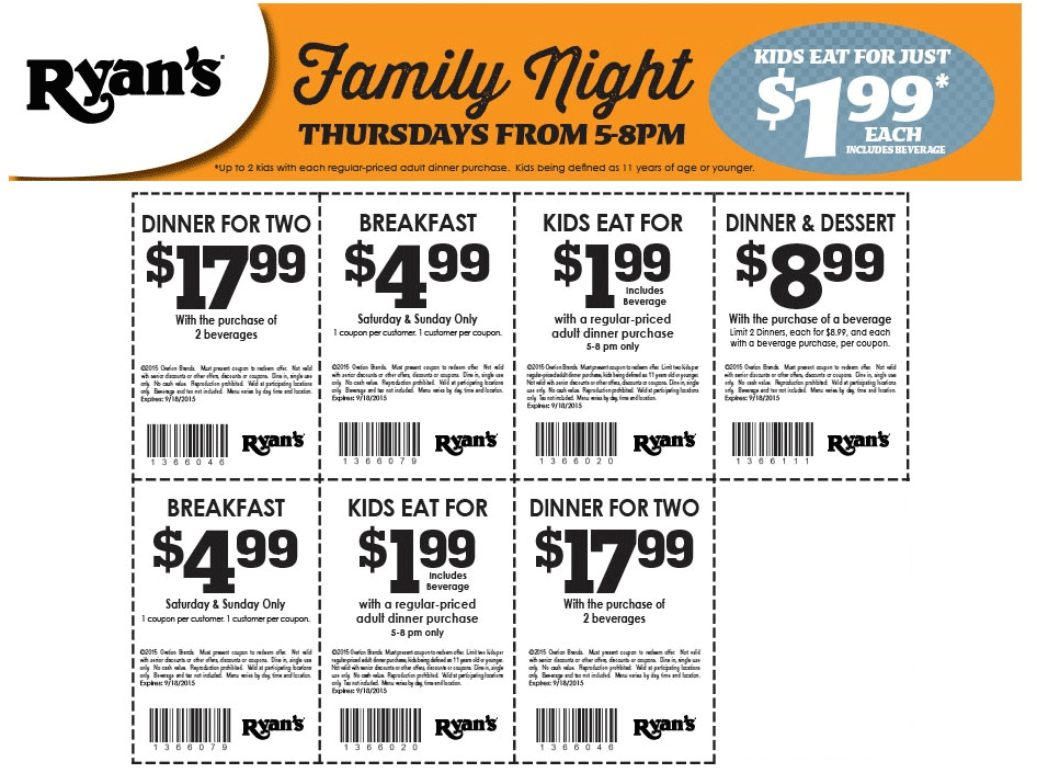 graphic regarding Ryans Printable Coupons named Ryans cafe discount codes - Www eddiebauer outlet