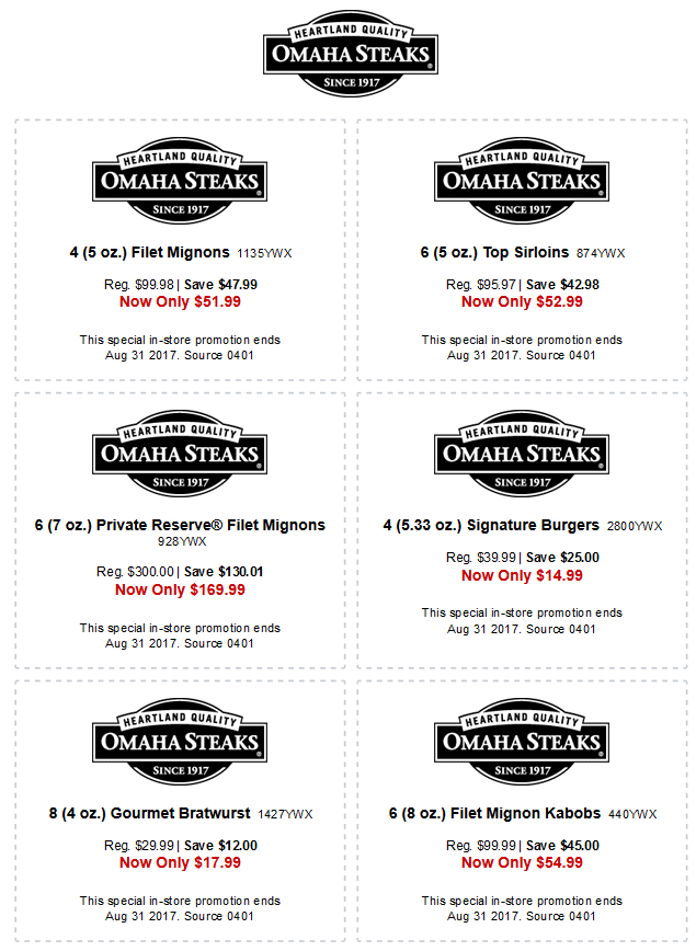 Omaha Steaks November 2020 Coupons and Promo Codes 🛒