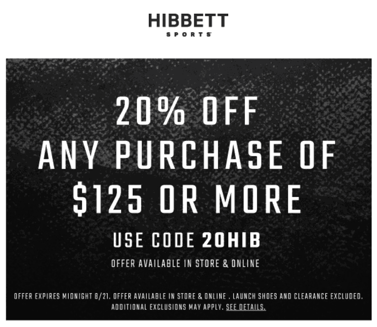 Active Hibbett Sports Discount Codes & Offers 12222
