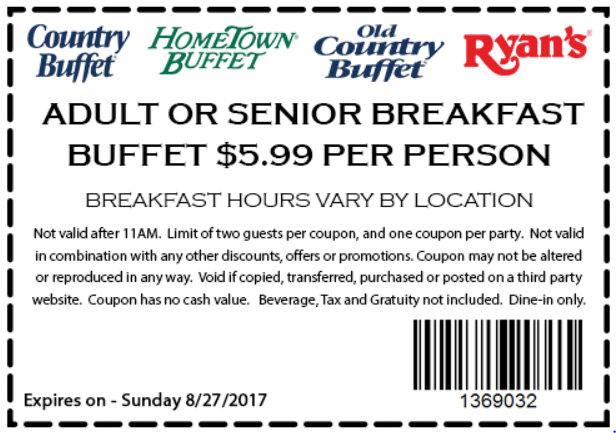 photo about Hometown Buffet Printable Coupons named Hometown Buffet Discount codes August 2018 Equivalent Key phrases