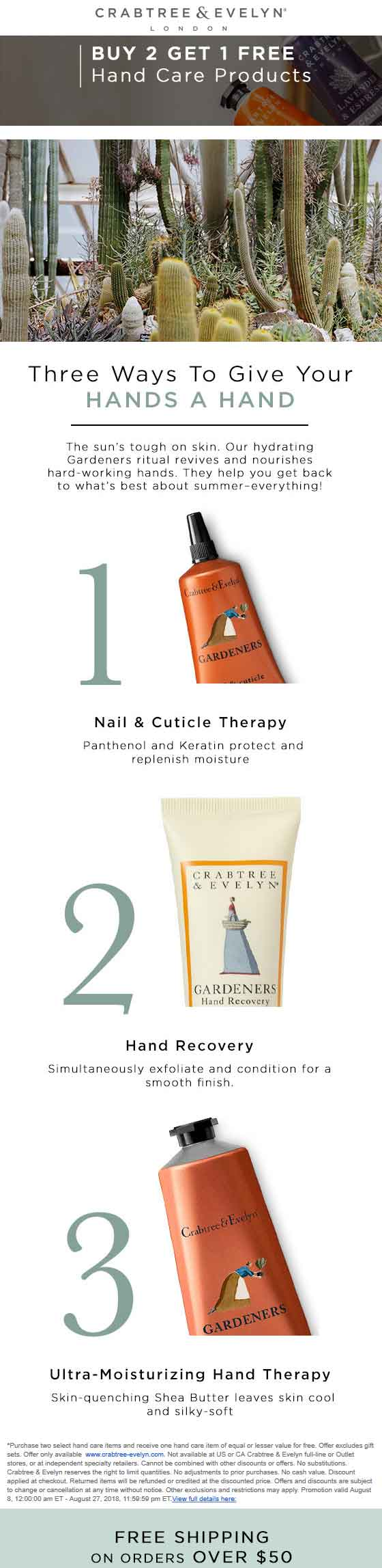 Crabtree & Evelyn coupons & promo code for [June 2020]