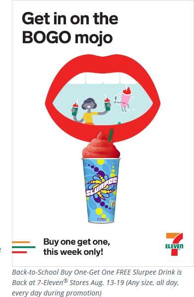 7-Eleven Coupon June 2020 Second slurpee free at 7-Eleven