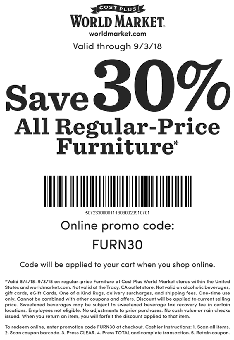 World Market coupons & promo code for [July 2020]