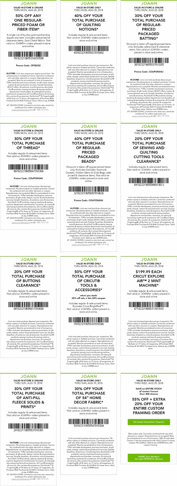 Joann coupons & promo code for [June 2020]