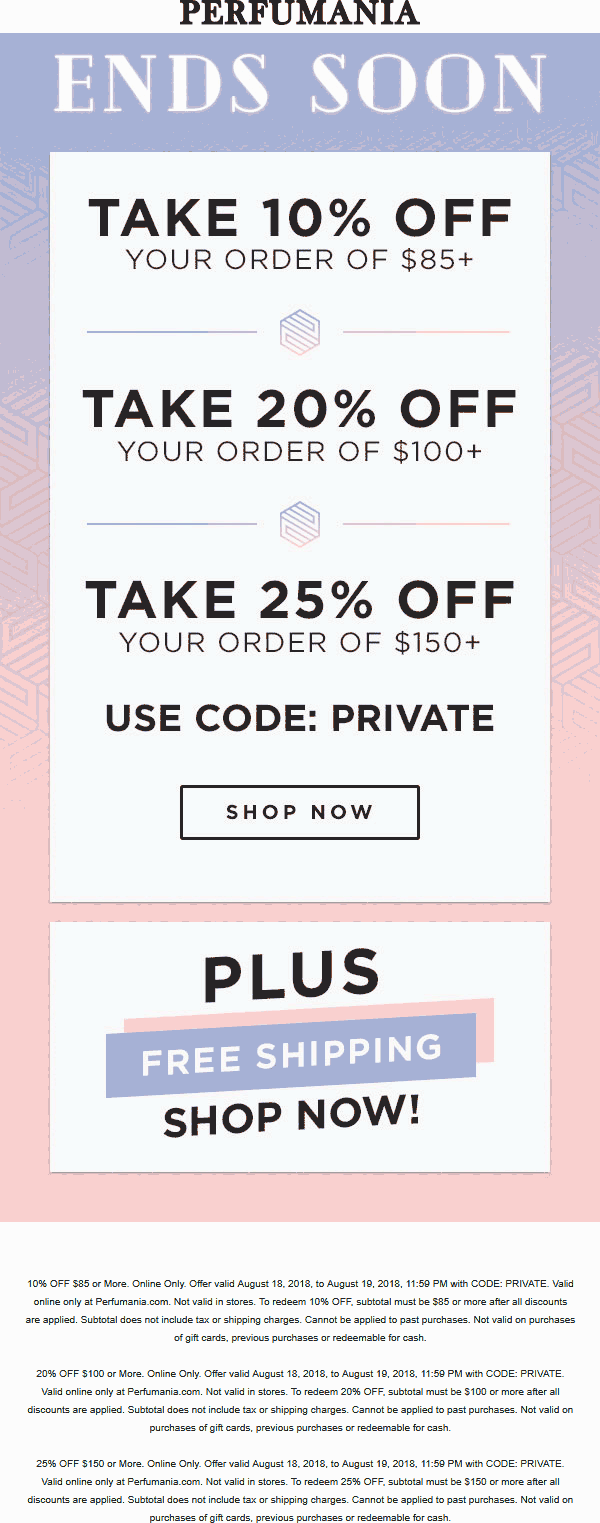 Perfumania coupons & promo code for [July 2020]