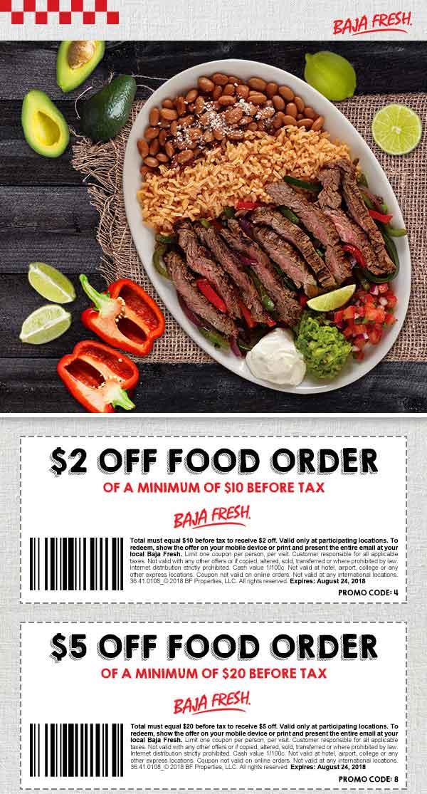 Baja Fresh coupons & promo code for [June 2020]