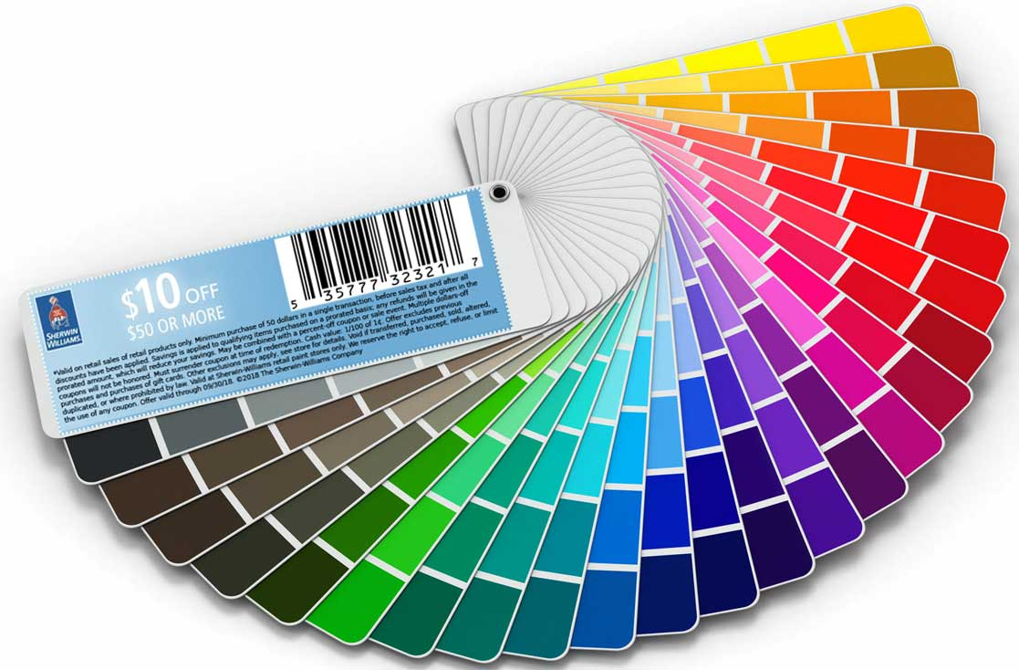 Sherwin Williams Coupon February 2020 $10 off $50 on paints & stains at Sherwin Williams