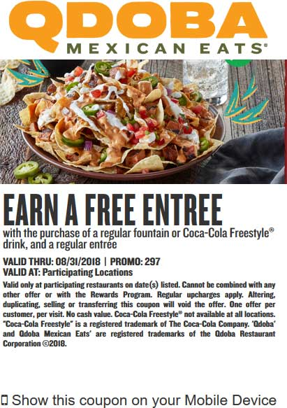 Qdoba coupons & promo code for [July 2020]