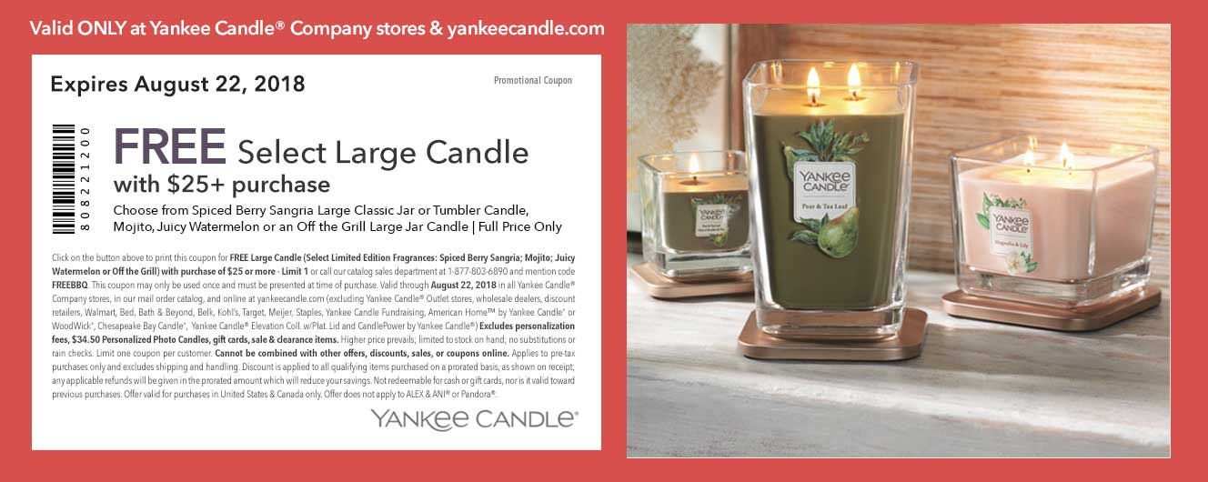 Yankee Candle coupons & promo code for [June 2020]