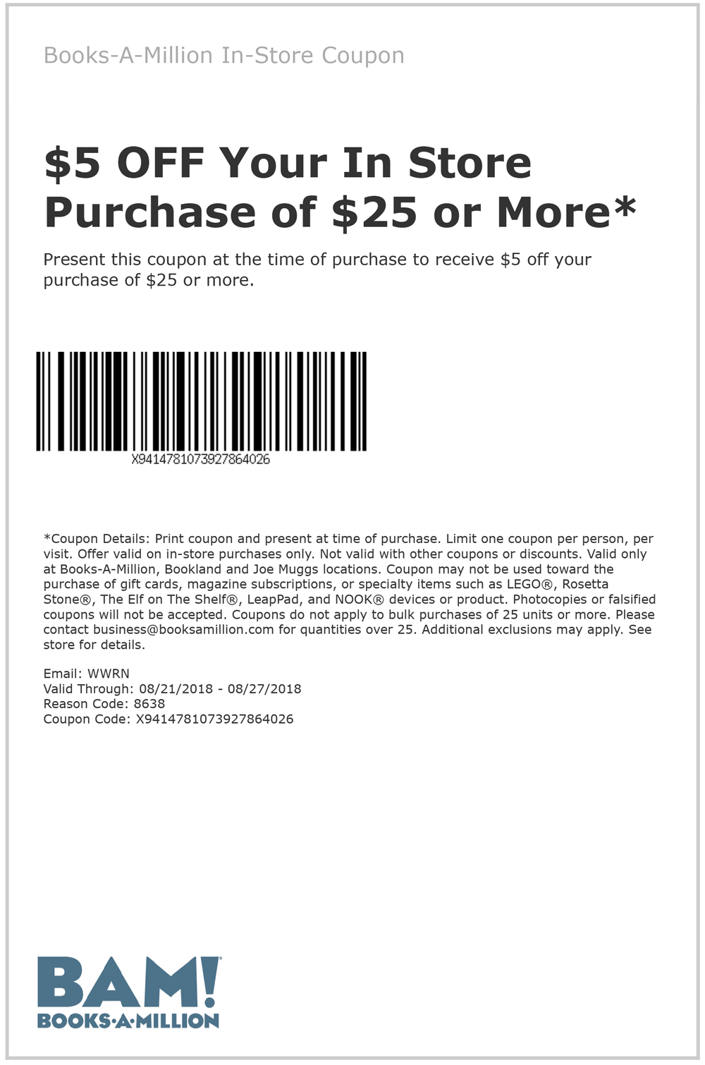 Books-A-Million coupons & promo code for [June 2020]