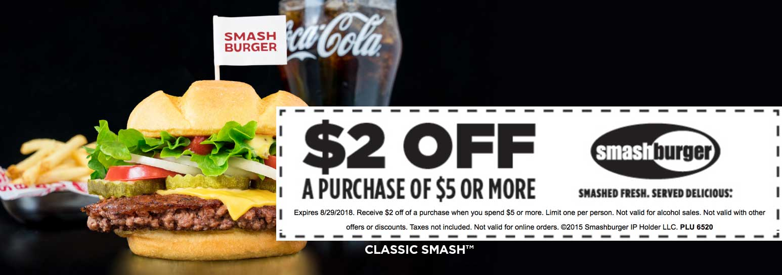 Smashburger coupons & promo code for [June 2020]