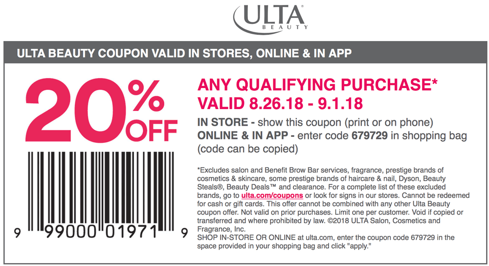 Ulta coupons & promo code for [July 2020]