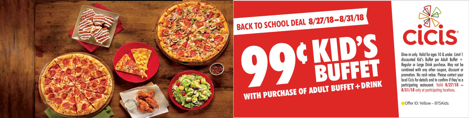 CiCis Pizza coupons & promo code for [June 2020]