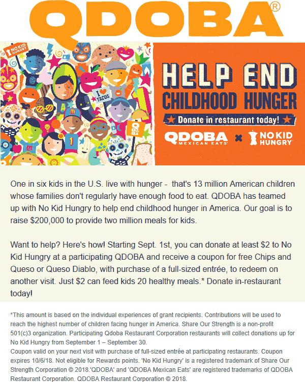 Qdoba coupons & promo code for [June 2020]