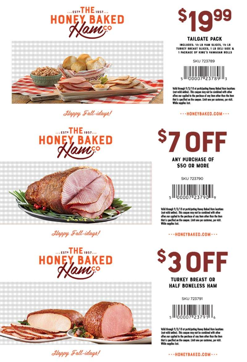 Honey Baked Ham Coupons 2020 Printable.Save 7 Off Honeybaked Ham With Printable Coupon 2018