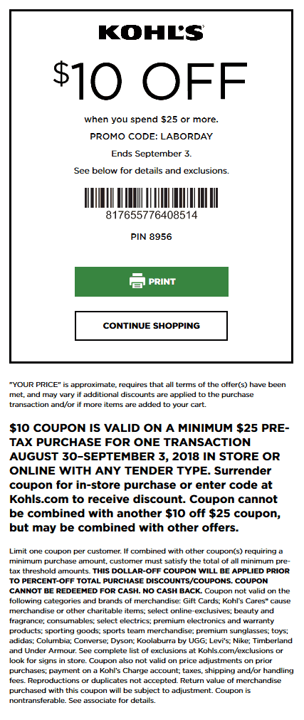 Kohls coupons & promo code for [June 2020]