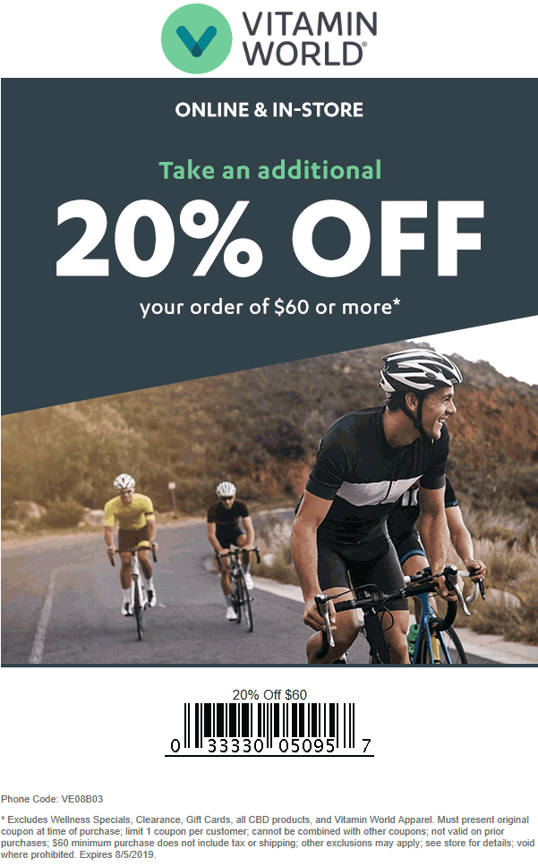 Vitamin World coupons & promo code for [July 2020]